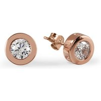 Ladies Radley Rose Gold Plated Sterling Silver Fountain Road Earrings