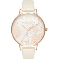 Abstract Florals Vegan Nude & Rose Gold Watch