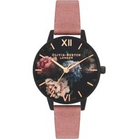 After Dark Black Rose Suede Watch