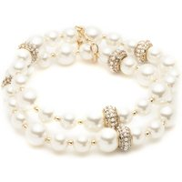Image of 2 Row Pearl Stretch Bracelet