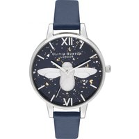 3d Bee Midnight Navy & Silver Watch