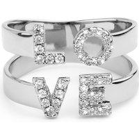 Ladies Mya Bay Silver Plated Love Ring