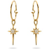 Ladies Mya Bay Gold Plated Enamelled North Star Earrings