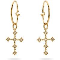 Ladies Mya Bay Gold Plated Cross Earrings