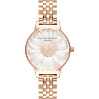 3d Daisy Rose Gold Bracelet Watch