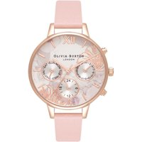 Abstract Florals Rose Gold & Dusty Pink Watch