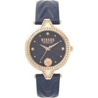 Ladies Versus V Crystal Blue Dial On A Blue Leather Strap Watch