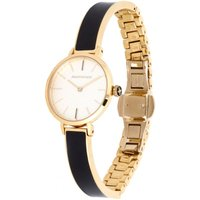 Agama Black and Gold Plain Bangle Watch
