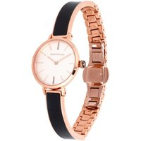 Agama Black and Rose Gold Plain Bangle Watch