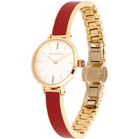 Agama Red and Gold Plain Bangle Watch