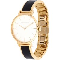 Maya Black and Gold Plain Bangle Watch