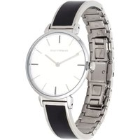 Maya Black and Palladium Plain Bangle Watch