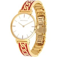 Curb Chain Red and Gold Bangle Watch