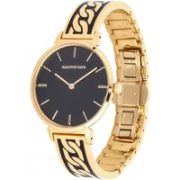 Curb Chain Black and Gold Bangle Watch