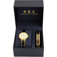 Agama Black and Gold Watch and 1cm Bangle Gift Set