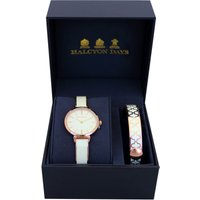 Agama Cream and Rose Gold Watch and 1cm Bangle Gift Set