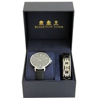 Agama Sport Black and Palladium Watch and Bangle Gift Set