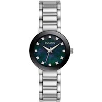 Ladies Bulova Quartz Diamonds Stainless Steel Watch