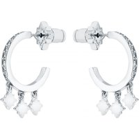 Bozena Pave Hoop Earrings