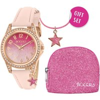 Tikkers Girls Star Charm Watch Gift Set With Matching Purse And Necklace