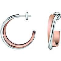 Ladies Calvin Klein PVD rose plating Coil Earrings