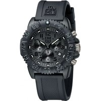 Mens Luminox Navy Seal Colormark 3080 Series Blackout Chronograph Watch