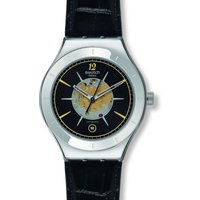 Image of Mens Swatch Dark Sky Automatic Watch