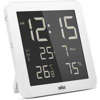 'Braun Clocks Digital Wall Alarm Clock Radio Controlled