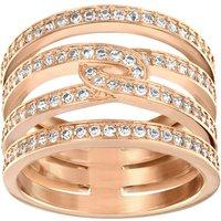 Ladies Swarovski PVD rose plating Size O Creativity Ring 55