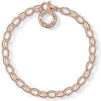 Ladies Thomas Sabo Rose Gold Plated Sterling Silver Charm Club Charm Bracelet