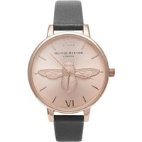 3d Bee Rose Gold & Black Watch