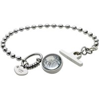 Ladies STORM PVD Silver Plated Crysta Ball Bracelet