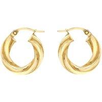Ladies Essentials 9ct Gold Twist Hoop Earrings