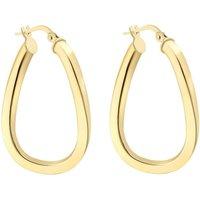Ladies Essentials 9ct Gold Square Hoop Earrings