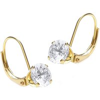 Ladies Essentials 9ct Gold Cubic Zirconia Hoop Earrings
