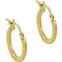 Ladies Essentials 9ct Gold Small Hoop Earrings