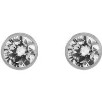 Ladies Essentials 9ct White Gold 5mm Cubic Zirconia Stud Earrings