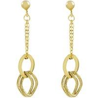 Ladies Essentials 9ct Gold Italian Link Earrings