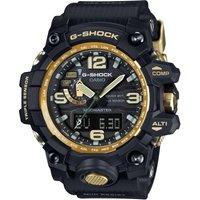 Mens Casio G-Shock Premium Mudmaster Compass Black x Gold Alarm Chronograph Radio Controlled Watch