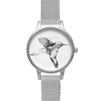 Animal Motif Humming Bird Slver Mesh Watch
