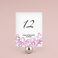 Contemporary Hearts Table Number