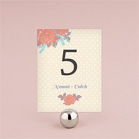 Retro Rose Table Number