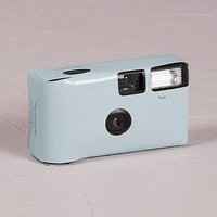 Pastel Blue Disposable Camera Solid Colour Design