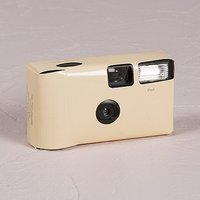 Ivory Disposable Camera Solid Colour Design