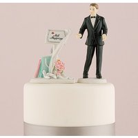 \Still Shopping\ Message Board Mix & Match Cake Topper - Ethnic Groom