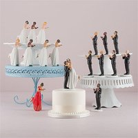 Interchangeable True Romance Bride And Groom Cake Toppers - Medium Skin Tone Bride