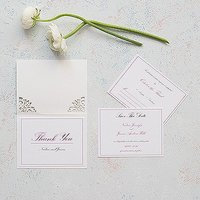 Pearl Romance Laser Embossed Accessory Cards with Personalisation