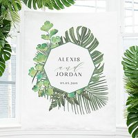 Greenery Small Personalised Photo Backdrop / Sign