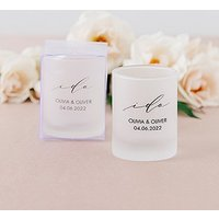 Custom Printed Frosted Shot Glass Wedding Favour