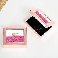 Small Personalised Modern Metal Jewellery Box - Stunning Glitter Foil Print